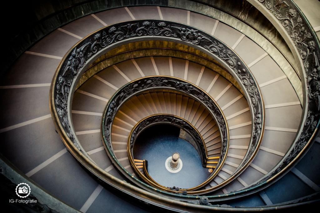 Wer Treppen mag, sollte sich die Treppe in den vatikanischen Museen nicht entgehen lassen!