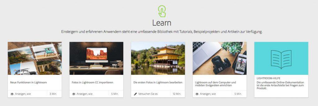 Adobe Photoshop Lightroom lernen